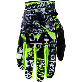 O'Neal Matrix Guantes Villain Jóvenes, black/neon yellow